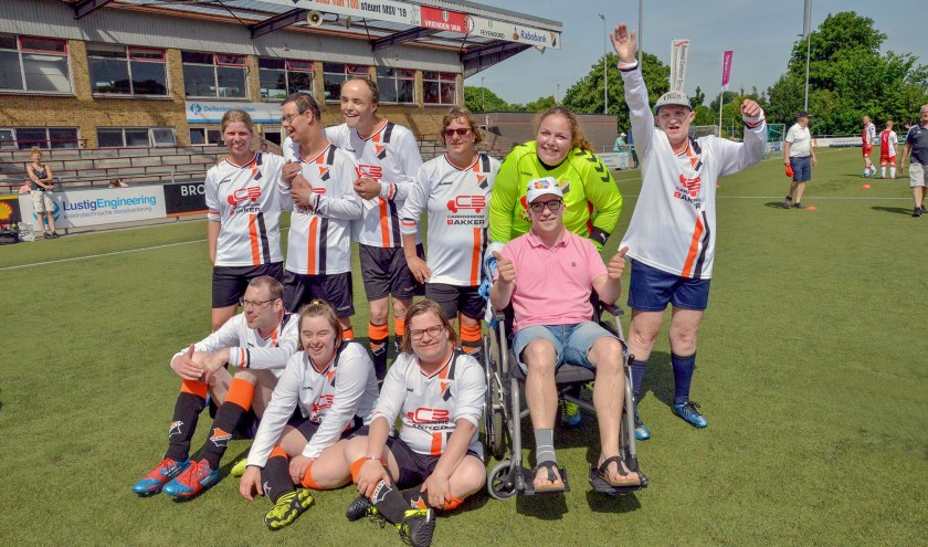 Het jubilerende MSV'19 organiseerde zaterdag voor de derde keer het G-Voetbal toernooi. Het eigen team werd vierde. Foto: Paul van den Dungen