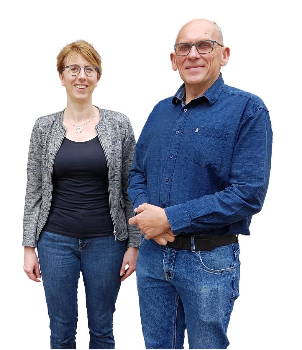 Co Vink met gastvrouw Karin Vaessen  © Persgroep