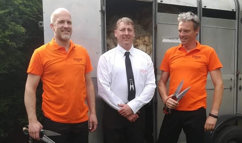 v.l.n.r: Jan van den Hardenberg, Robin Glyn Jones (teammanager), Erik Bijlsma