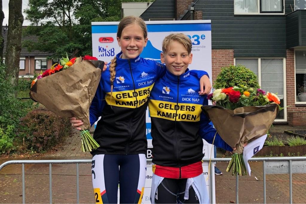 Gelders Kampioenen Marathon Britt van der Linden en Junior de Blois Foto: Kim Hiddink © Persgroep