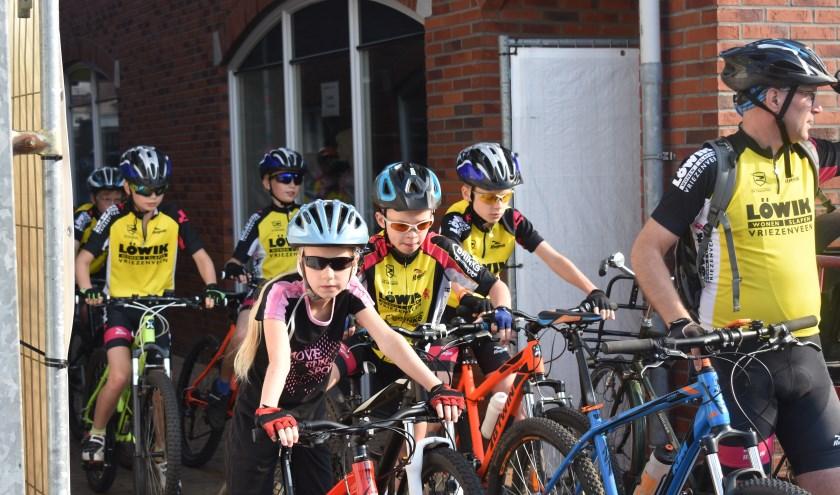 Voor de jeugdige fietsers is er een fietsroute uitgezet van 23 kilometer. Foto: Jolien van Gaalen.