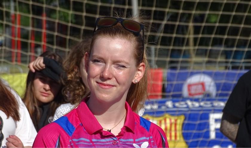 """Britt Eerland haalde op de European Games de beste-32 en verloor van een in de ranking lager geplaatste Oekraïense. """"Ik was in die partij de te kloppen favoriet.  Dat lukte haar dus"""". (Foto: Persgroep/gsv)"""