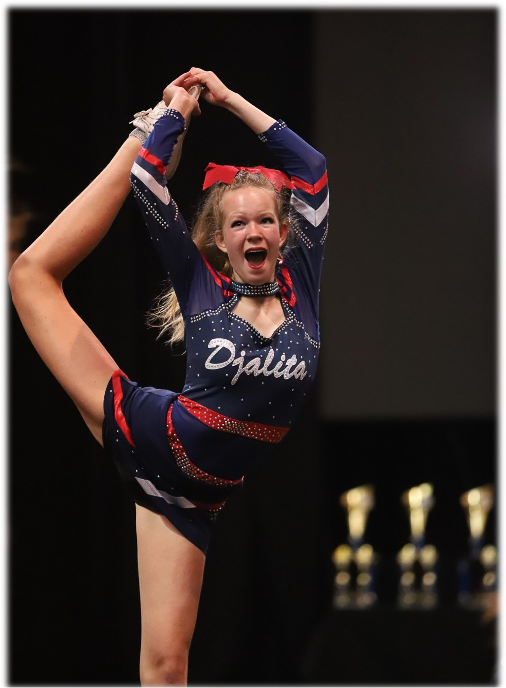 Cheerleader Demi in actie Foto: CCVA © Persgroep