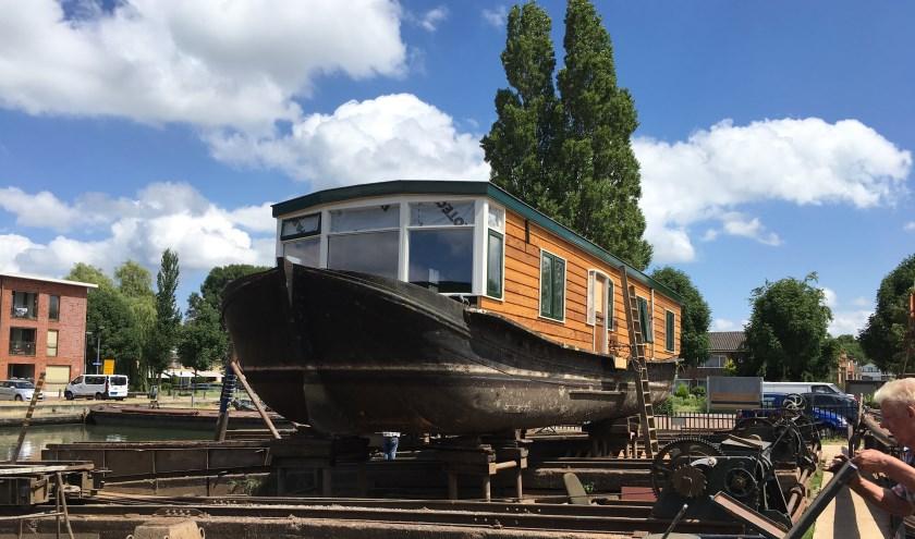 Woonschip Victoria Regia, regionaal erfgoed op de helling bij Museumwerf Vreeswijk. Foto: Cisca de Ruiter, Museumwerf Vreeswijk