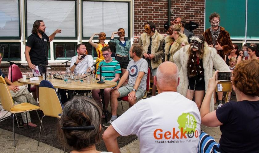 De 'live' TV-Show 'Gekkoo Draait Doorrrrr. (foto: Tiemen van Dijk)