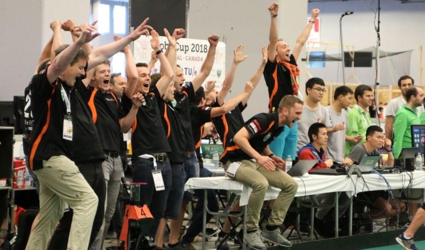 Tijdens het WK 2018 wint het Nederlandse team de wereldtitel. Foto: Tech United.