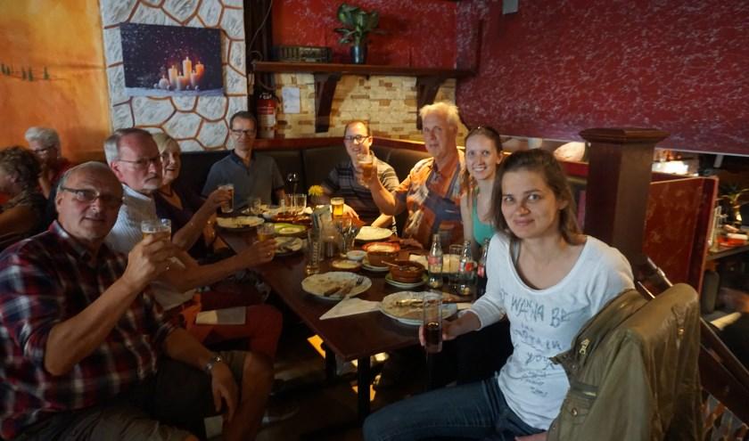 v.l.n.r. Niek, Rien, Lidie, Peter, Mark, Bernard, Anna en Helma.