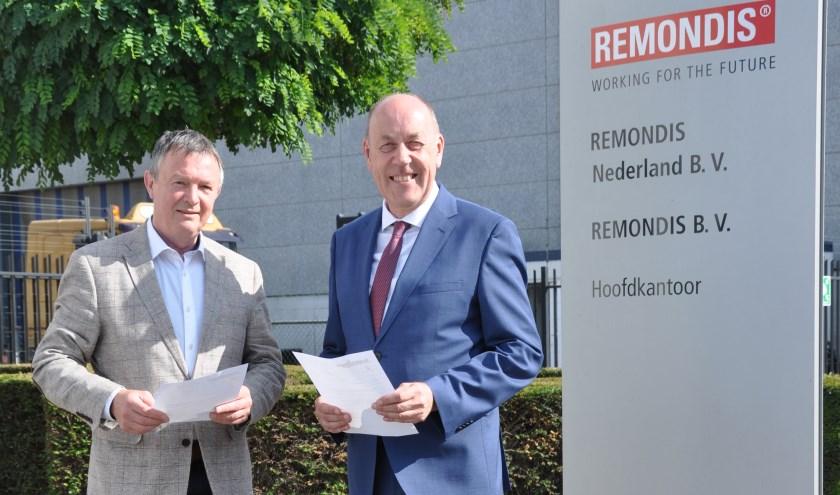 Voorzitter Herman ter Haar van SBL en Managing Director Andreas Krawczik van Remindis ondertekenden onlangs een nieuwe sponsorovereenkomst.