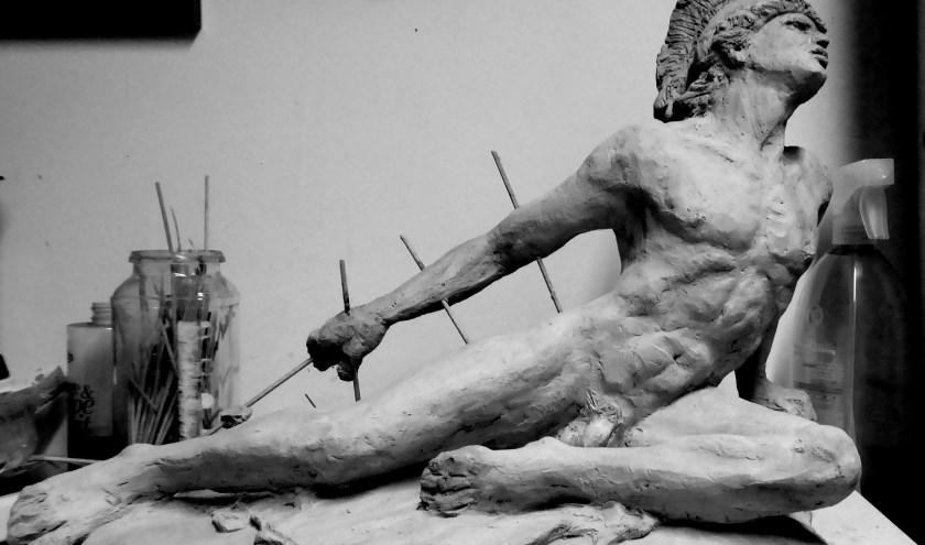 Waldermar Ysebaert liet zich inspireren door sculpturen van de Griekse held Achilles.