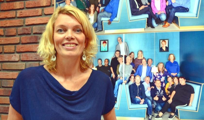 Marieke Kolsteeg van Waterweg Wonen: 'Het gaat eigenlijk hartstikke goed'. (Foto Frans Assenberg)