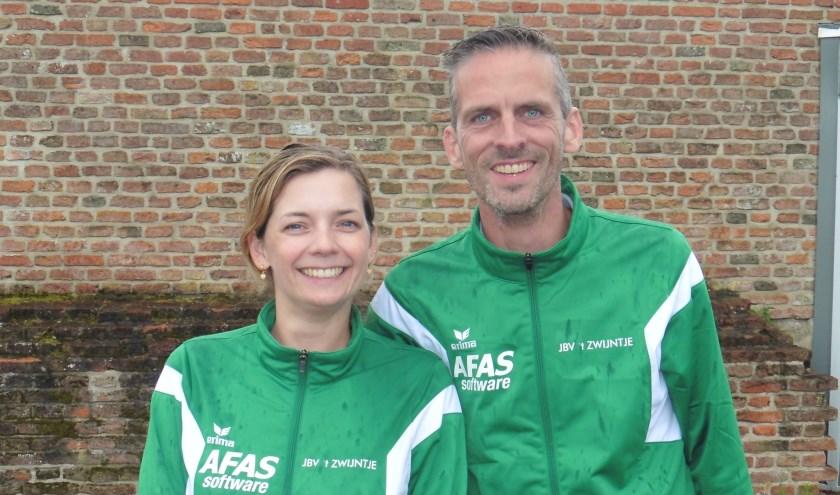 Winnaars Stadsmuurtoernooi: Annette Boluijt en Fabian Biesheuvel.