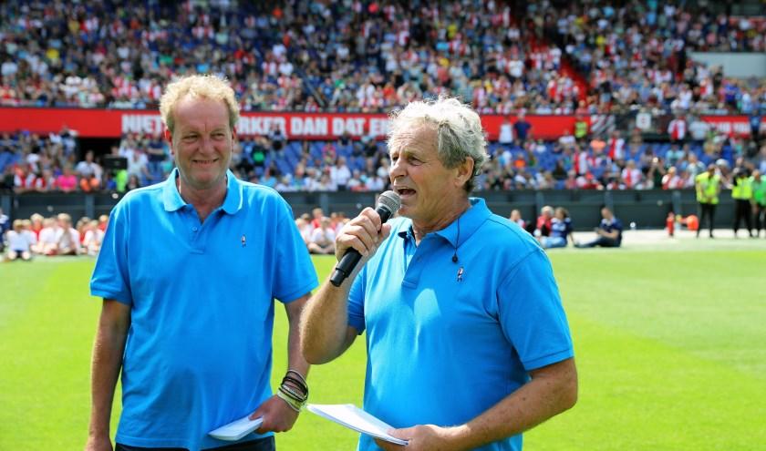 Peter Houtman (rechts) tijdens de Open Dag van Feyenoord samen met Koert Westerman (foto: John de Pater)