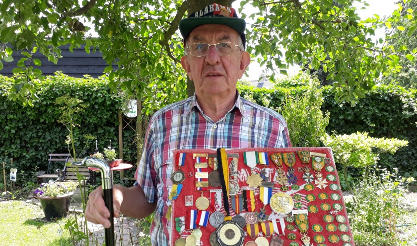 Vorige week liep André Zeelen, ook bekend als Dré, voor de 56e keer de Maas en Viltmars in Oeffelt. (foto: Tom Oosthout)
