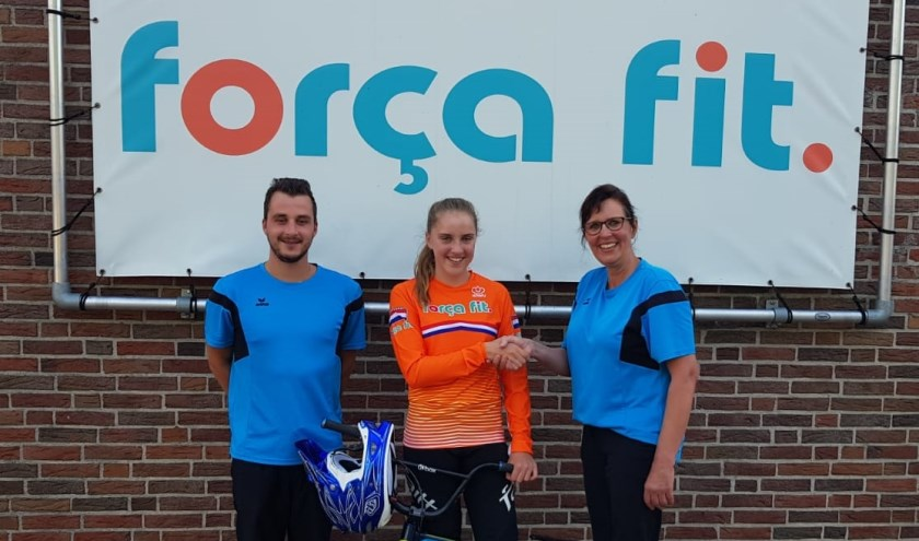 Sponsor Forca Fit met Celia Visch. (Foto: JV)