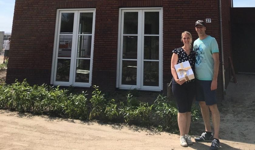 In Prinsenbeek hebben begin deze maand de bewoners van 'n aantal woningen in Westrik de sleutels van hun nieuwe woning ontvangen.