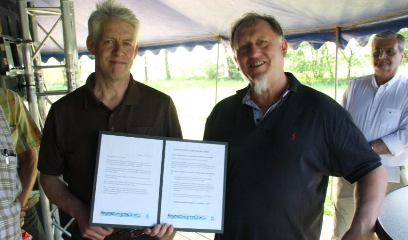 De buurt boden twee jaar geleden een petitie aan initiatiefnemer Wolfgang Chantre van RMS.
