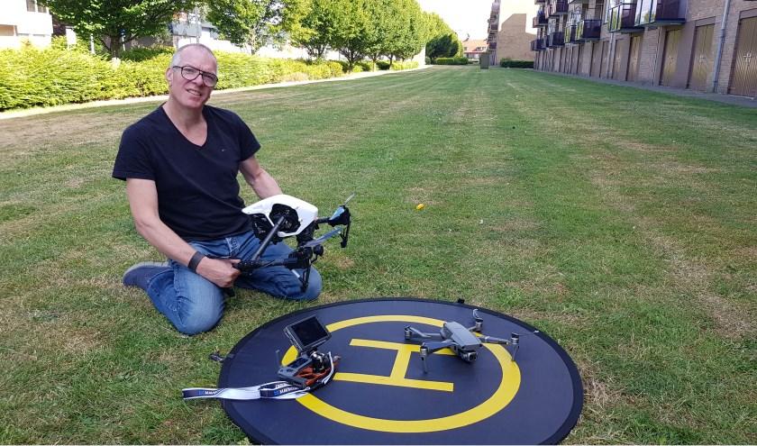 Frank Bosvelt geeft een demonstratie drone vliegen. Het levert unieke foto's op van Winterswijk en omstreken.