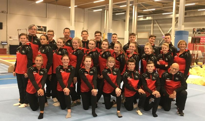 De afvaardiging van de Zwijndrechtse Gymnastiekvereniging.