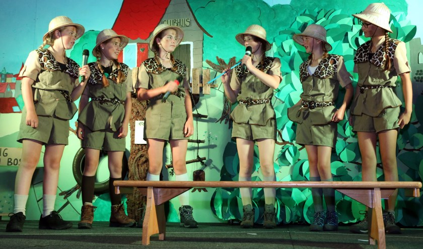 Een scene uit de musical. (foto: W.v.p.)