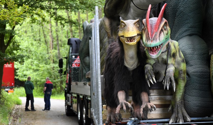 Op Vliegveld Twente is nu Dinopark Twente te bezoeken. Foto: Toma Tudor