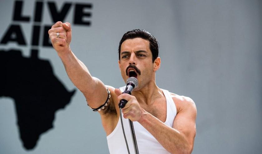 De film Bohemian Rhapsody gaat over de Britse rockband Queen. Rami Malek speelt zanger Freddy Mercury. De film is te zien op 18 juli. foto: Alex Bailey