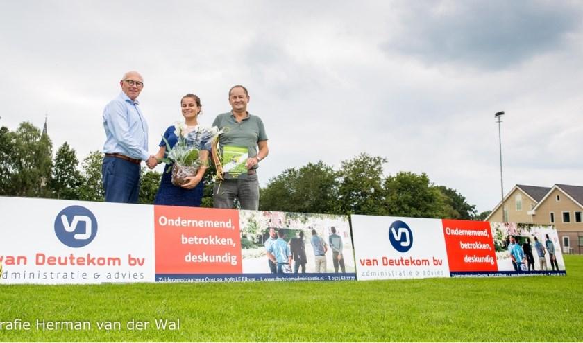 V.l.n.r.: Lammert Vlieger, Carola Broekhuizen en Lammert Pul.