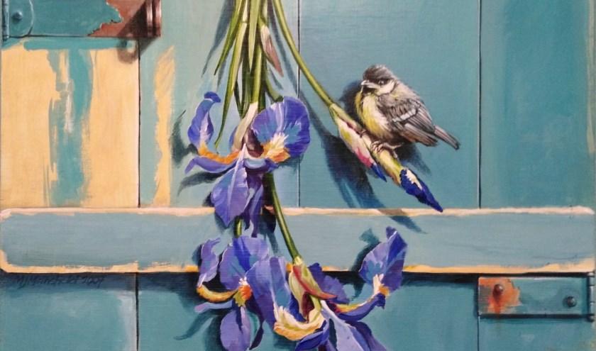 De Irismees van schilder Michael Mansfield, zondag 4 augustus te zien in Tuin Beckelo.