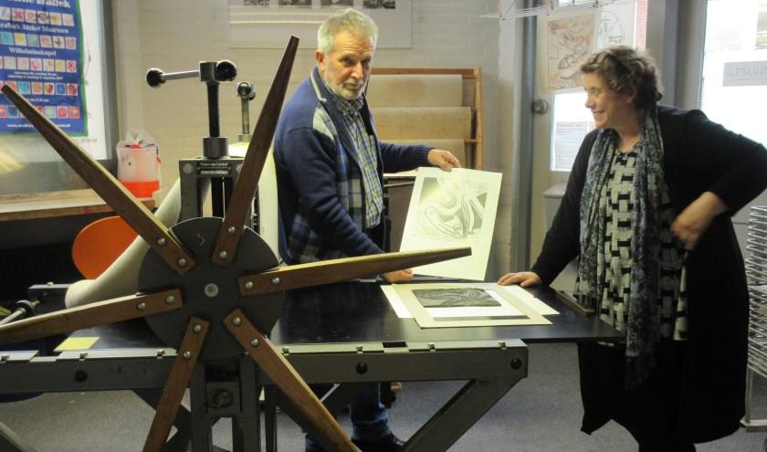 Het Grafisch Atelier Maarssen sluit het feestjaar af met exposities. Tekst en archieffoto: Ria van Vredendaal