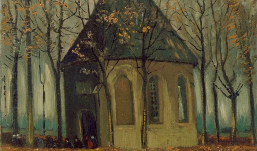 Het gestolen schilderij van het Van Goghkerkje. Foto: Marjolein van Hoof