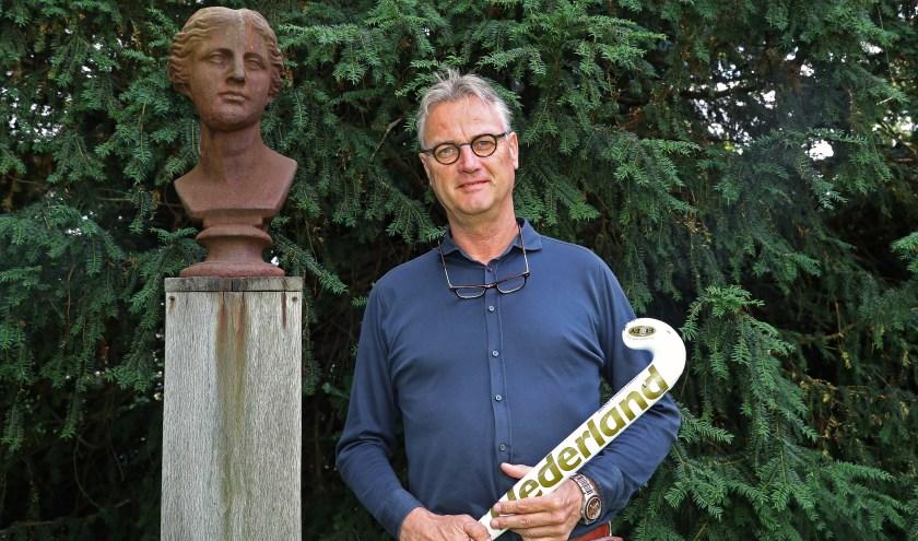 Hinrich Slobbe, al vijf jaar vol energie actief als voorzitter van hockeyclub Derby.