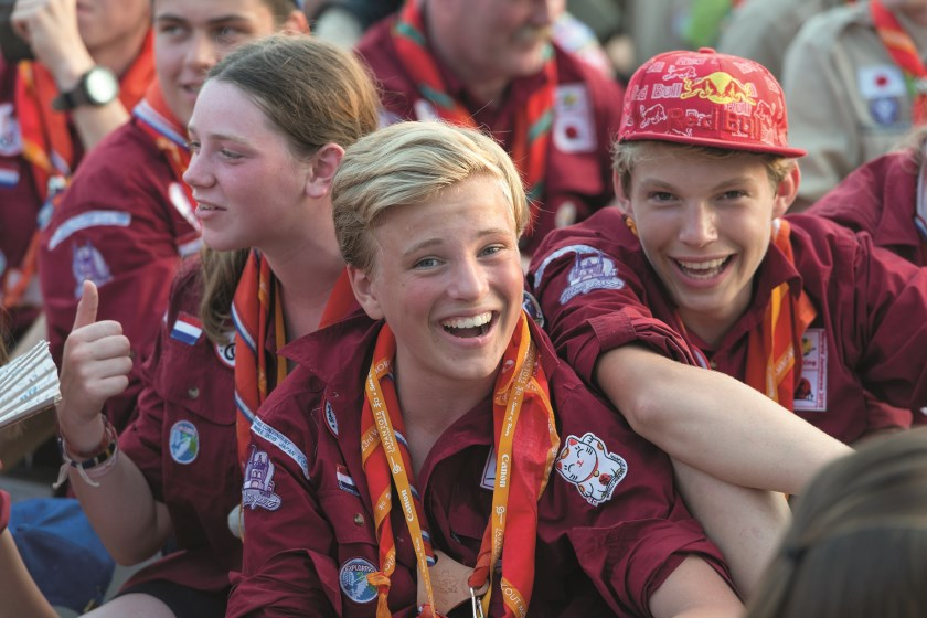 De Wereld Jamboree is een internationaal Scoutingkamp. Er komen ruim 40.000 scouts uit meer dan 150 verschillende landen samen.