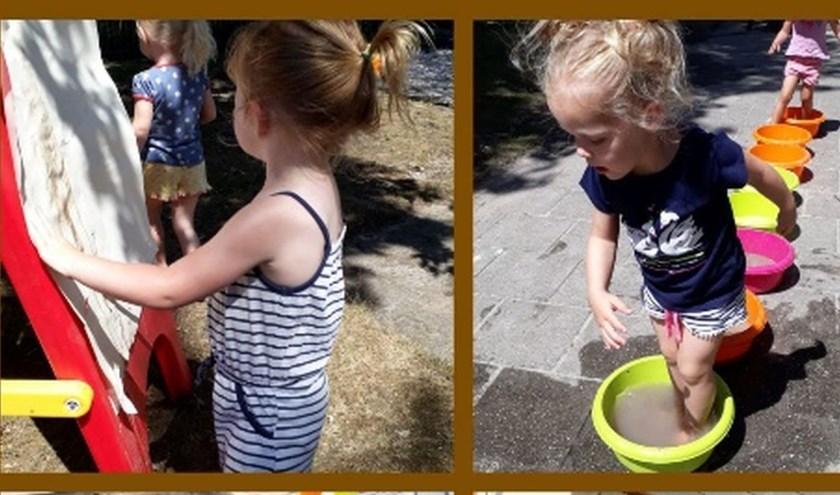 De kinderen van peuterspeelzaal Robbedoes hebben zich prima vermaakt tijdens Nationale Modderdag. Eigen foto.