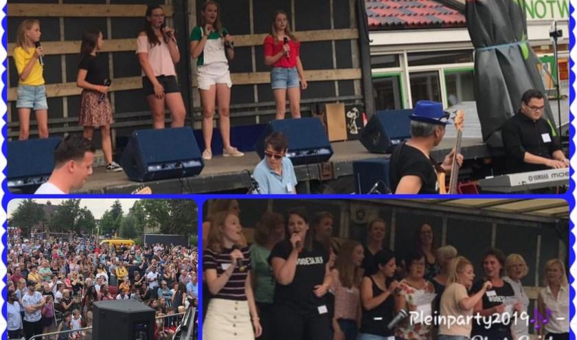Enkele optredens tijdens de Pleinparty-2019