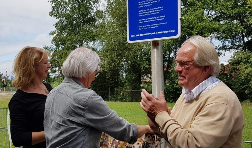 fractieleider Wiert Wiertsema, Slingerbeurs vertegenwoordiger Frans Kattenpoel