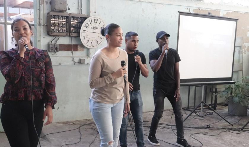 De rapgroep Hide vertelde in haar rap veel over de bijbel.