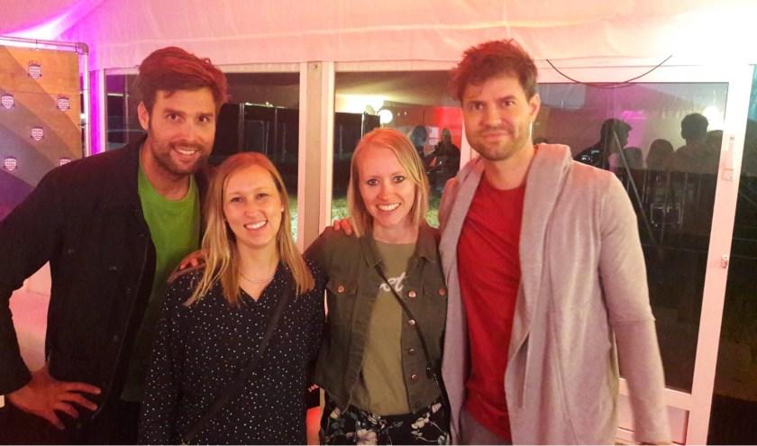 Met Nick en Simon op de foto in de artiestenfoyer, na hun optreden.