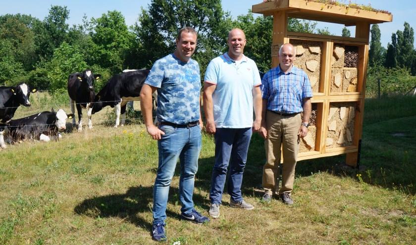 De toezichthouders van Omgevingsdienst Achterhoek (ODA) van links naar rechts: Michel ten Elsen, Marcel Wansink en Gerrit Hakken. (Foto: PR)