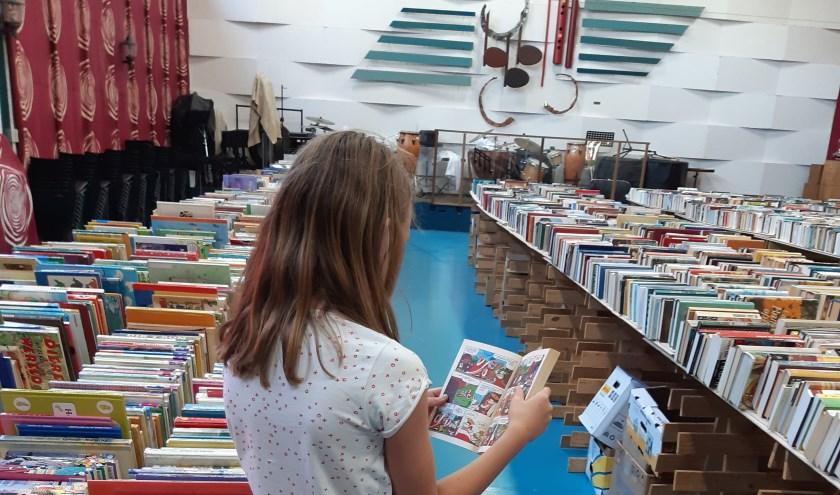 Grote boekenmarkt in De Harmonie.
