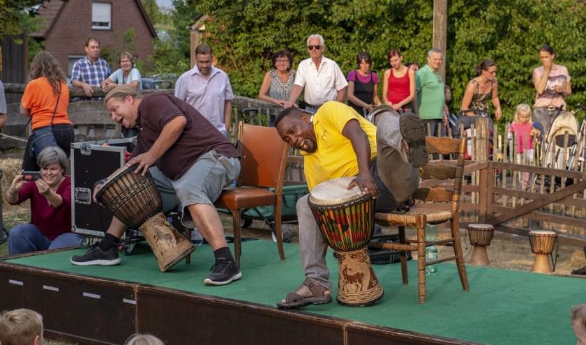 In Tierpark Nordhorn wordt zaterdagavond het Zomerfeest gevierd, mét trommelshow. Foto: Franz Frieling