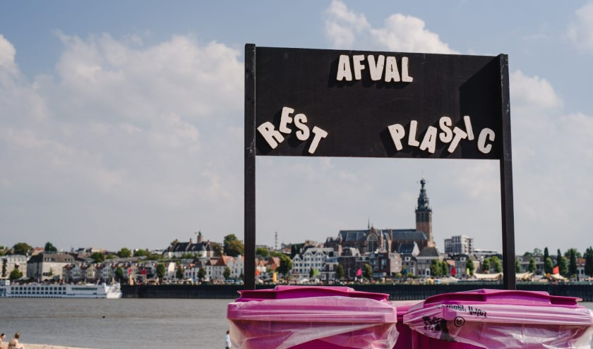 Op 't Eiland is één van de drie locaties waar bekers van PP-plastic worden ingezameld. (foto: Mathijs Hanenkamp / Stichting VIerdaagsefeesten)
