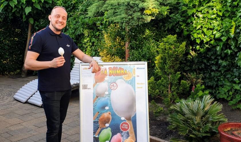 Marco Heeren kan zijn favoriete ijsje nu ook elke dag thuis eten. En hij laat de hele regio graag kennismaken met La Bomba.