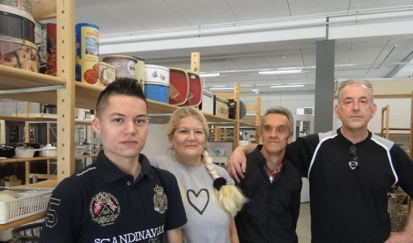 Joyce en Harald worden ondersteund door zoon Sander en vrijwilligers.