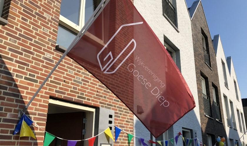 Vlag van wijkvereniging op Rommelroute 2018