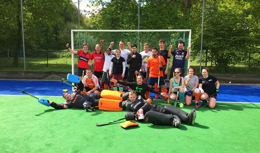 Nederlandse selectie Euro ParaHockey Championships.