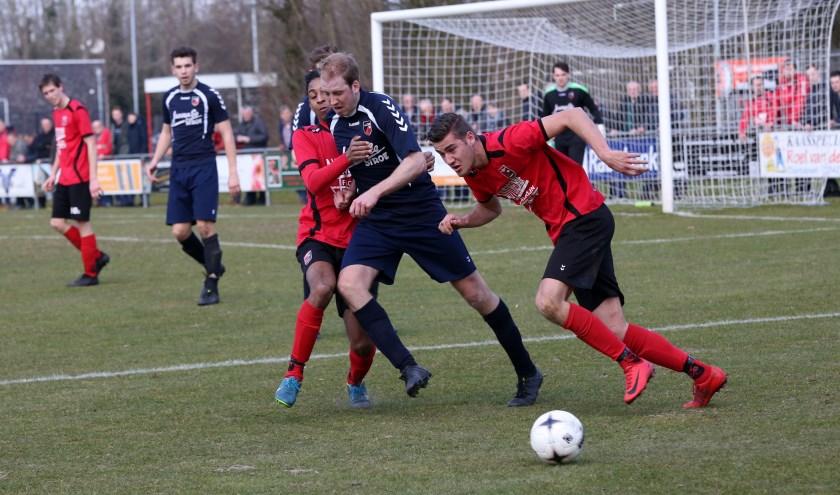 Terschuurse Boys oefent dinsdag tegen VV Stroe. Hier een eerdere foto van Dirk van de Bor.