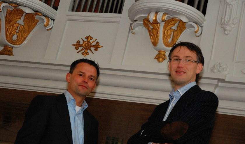 Organisten Andre van Vliet en Marco den Toom
