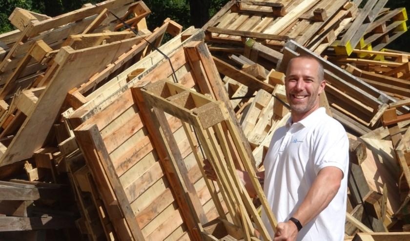 Voor de bouw van het huttenbouwdorp is ongeveer 500 kub hout nodig.
