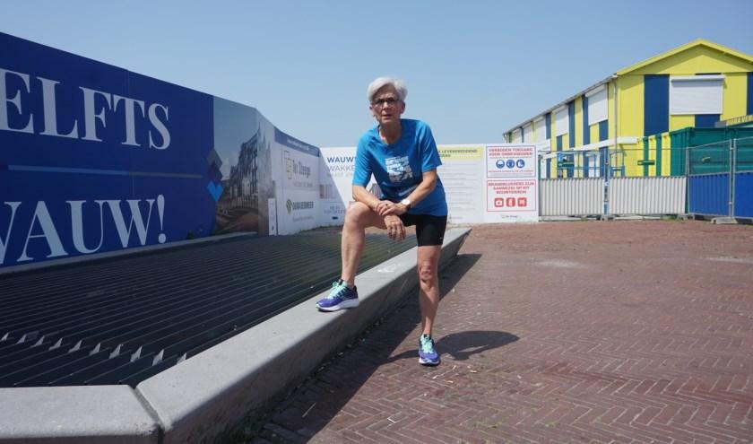 Hardlopen is Karin Schrederhof's favoriete sport (foto: Annemarie de Vries)