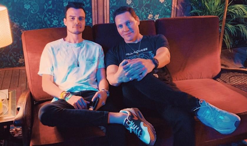 SWACQ en Tiësto backstage op Tomorrowland