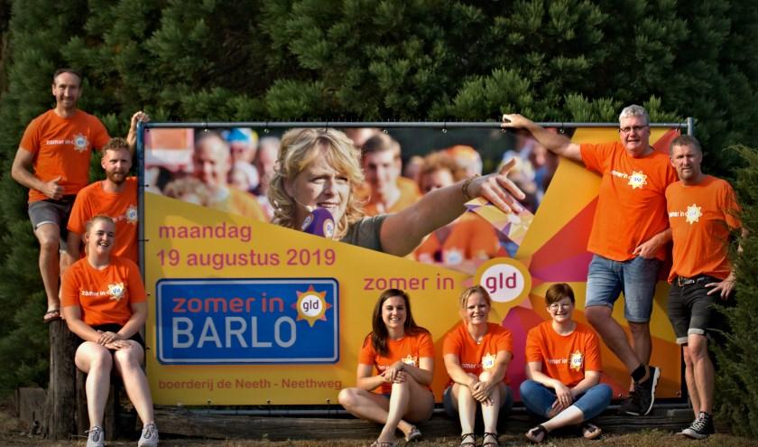 Team Barlo: Patrick Ruud André Peter Laura Marit Gerdienke en Anke. Niet op de foto: Nelleke en Leon.